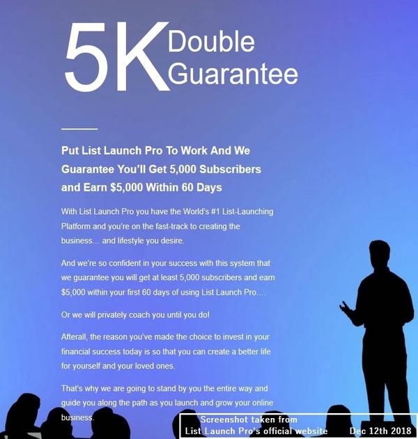 List Launch Pro guarantee