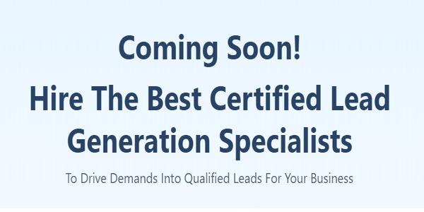Hiring lead generation specialists