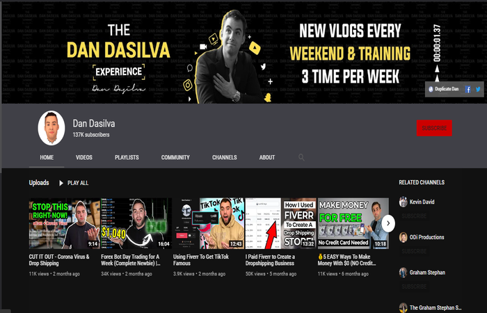 Dan Dasilva Youtube Channel