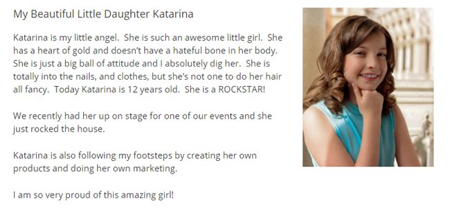Chad Nicely's Daughter Katarina
