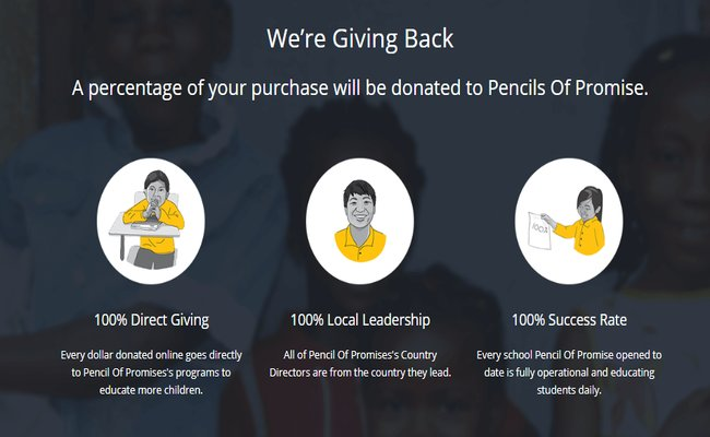 donation for pencils of promise