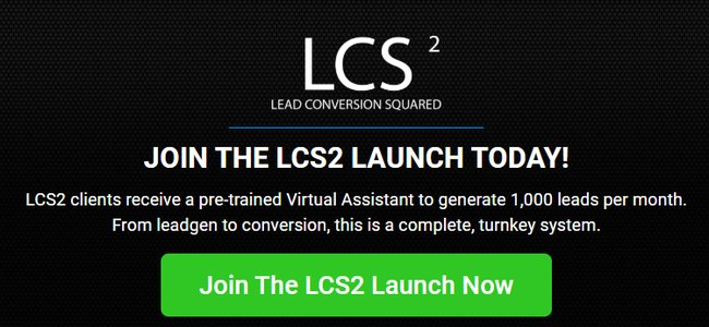 Lead Conversion Squared Launch Page