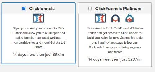 clickfunnels plans