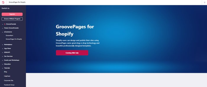 groovepages for shopify