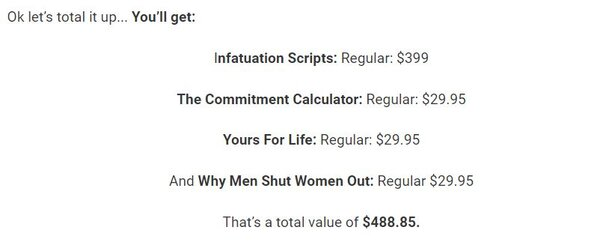 infatuation scripts total value