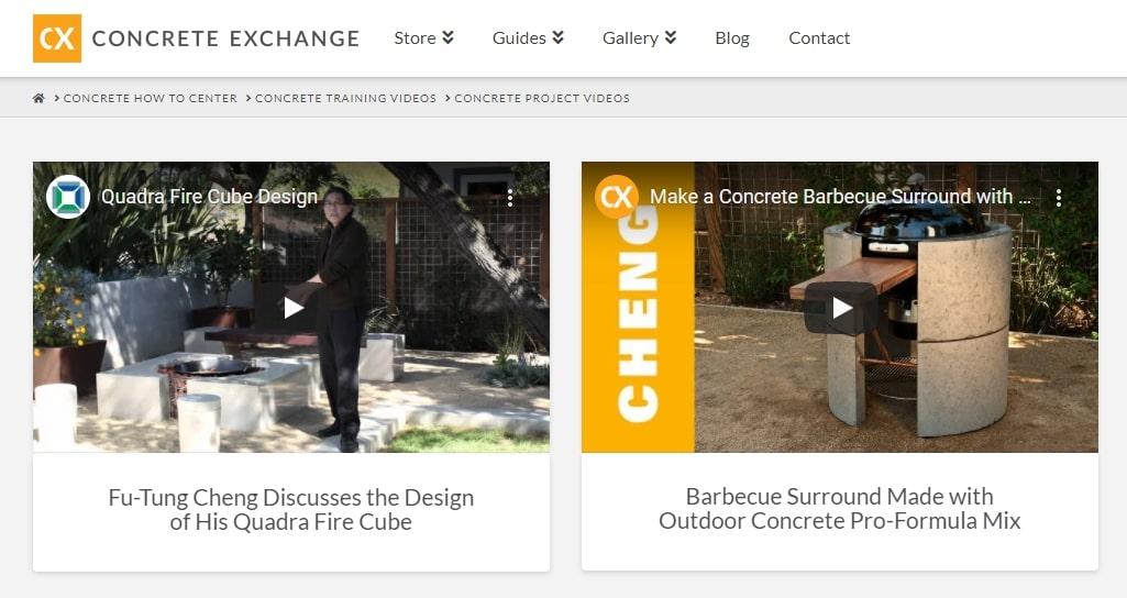 Concrete exchange video instructions