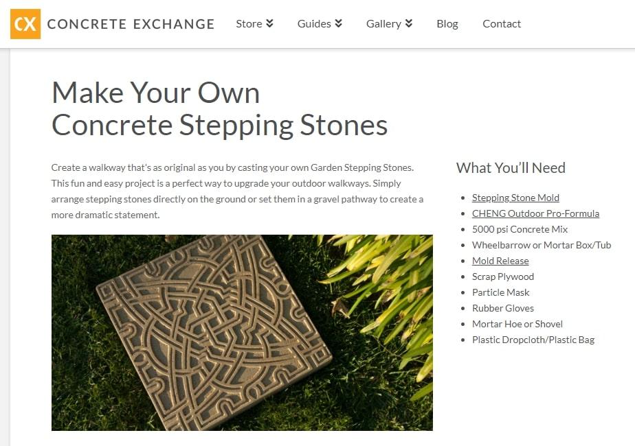 Concrete exchange written instructions
